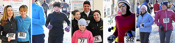 participants at the Frosty 5K